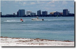 View of Sarasota from South Lido Park �2002